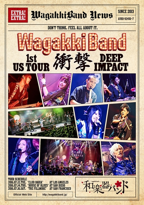 LIVE DVD & Blu-ray「WagakkiBand 1st US Tour 衝撃 -DEEP IMPACT-」
