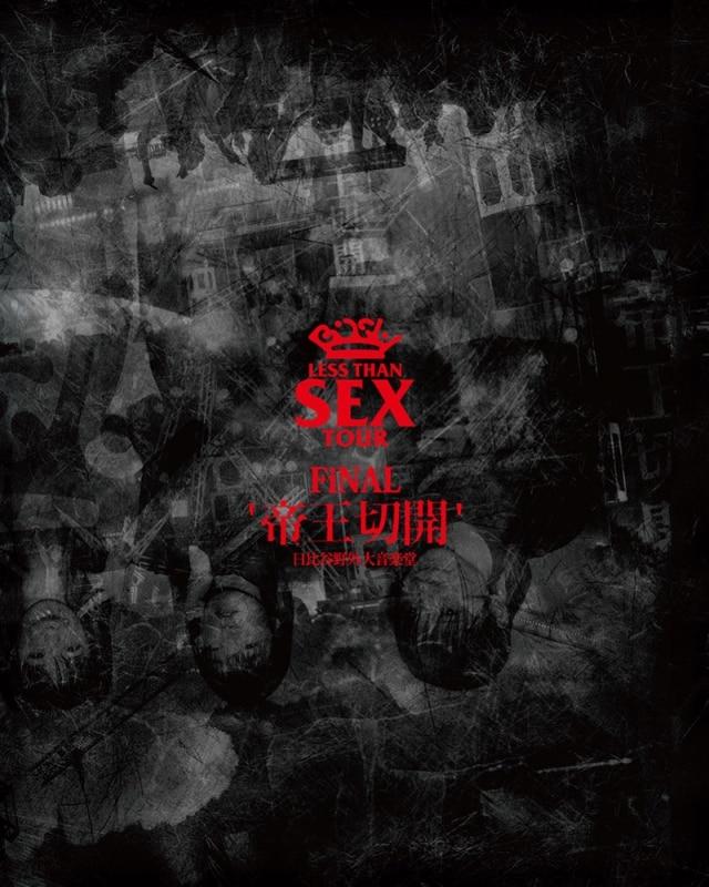 """タイトル:Less Than SEX TOUR FiNAL """"帝王切開"""" 日比谷野外大音楽堂 -初回生産限定盤- 発売日:2017年1月18日"""