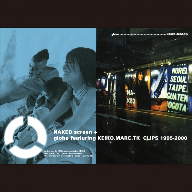 NAKED screen + globe featuring KEIKO. MARC. TK CLIPS 1995-2000